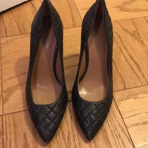 Banana Republic Black Quilted Pumps